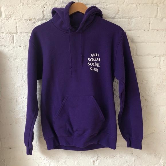 d5c7cc78a6cc Anti Social Social Club Tops - Anti Social Social Club purple hoodie